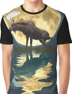 Moose Moon Graphic T-Shirt