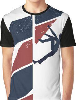 drop knee Graphic T-Shirt