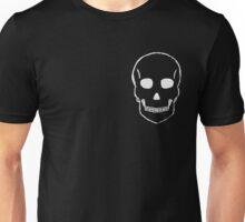 Small Skull Sketch (White Outline) Unisex T-Shirt
