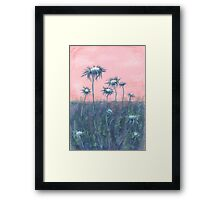 "The ode to Burdock"" Original Pastel painting,Drawing Art Framed Print"
