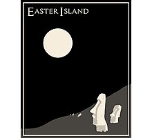 Easter Island Minimalist Travel Poster Photographic Print