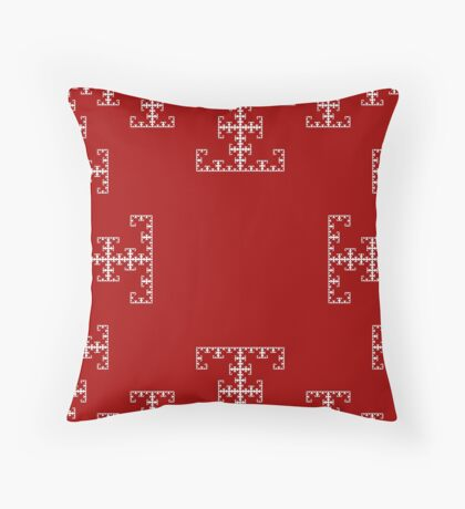 Christmas Frost Fractals Throw Pillow