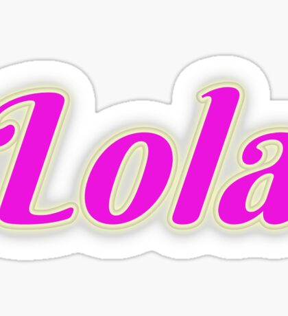 Lola Sticker