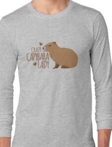 Crazy Capybara lady Long Sleeve T-Shirt
