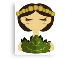Gooseberry character vector illustration Canvas Print