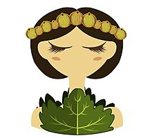 Gooseberry character vector illustration Photographic Print