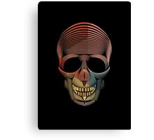 Triangle Skool Skull Canvas Print