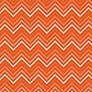 Sunset Orange Chevrons by destinysagent