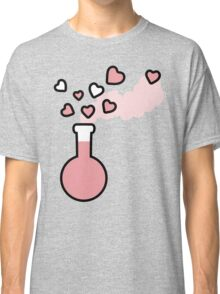 Pink Love Magic Potion in Laboratory Flask Classic T-Shirt