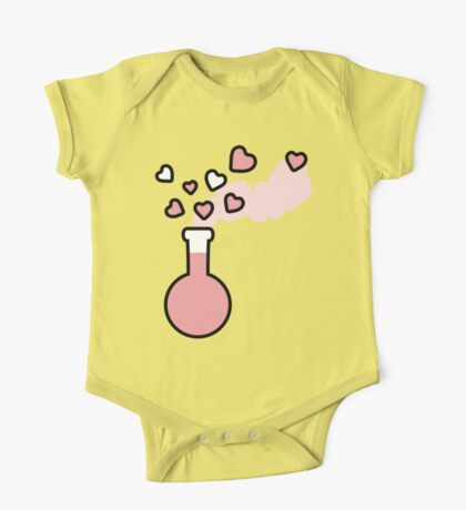 Pink Love Magic Potion in a Laboratory Flask One Piece - Short Sleeve