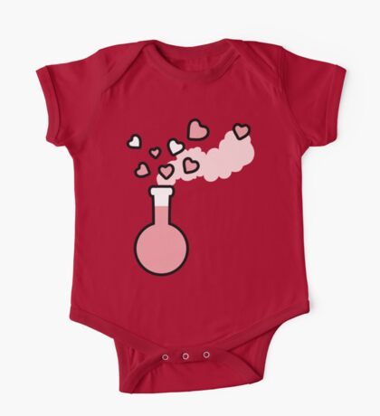 Pink Love Magic Potion in Laboratory Flask One Piece - Short Sleeve