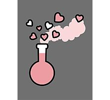 Pink Love Magic Potion in Laboratory Flask Photographic Print
