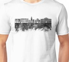 Bergamo skyline in watercolor background Unisex T-Shirt