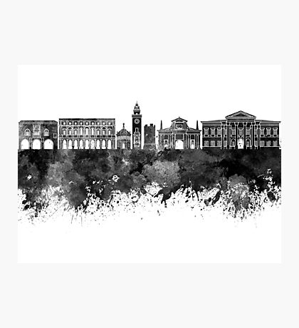 Bergamo skyline in watercolor background Photographic Print