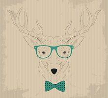 Deer Hipster by Yevhenii Korchak