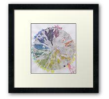 Color Wheel Mandala Framed Print