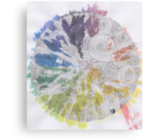 Color Wheel Mandala Canvas Print