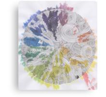 Color Wheel Mandala Canvas Print