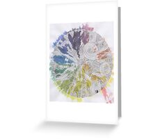 Color Wheel Mandala Greeting Card
