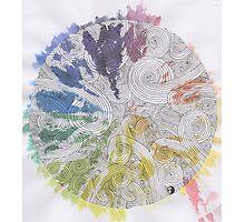 Color Wheel Mandala Photographic Print