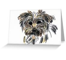 A puppy head in colour Greeting Card