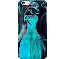 BLUE ABSTRACT POTTERY iPhone Case/Skin