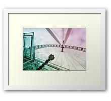 London eye color view Framed Print