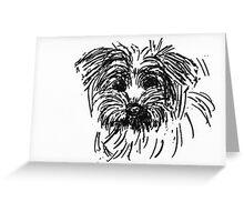 A puppy head  Greeting Card
