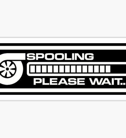 Turbo Spooling White V2 Sticker