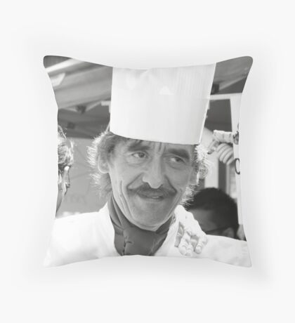 Chef Michel Dumas Throw Pillow