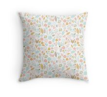 Cute Floral Pattern 2 Throw Pillow