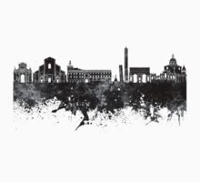 Bologna skyline in watercolor background One Piece - Short Sleeve