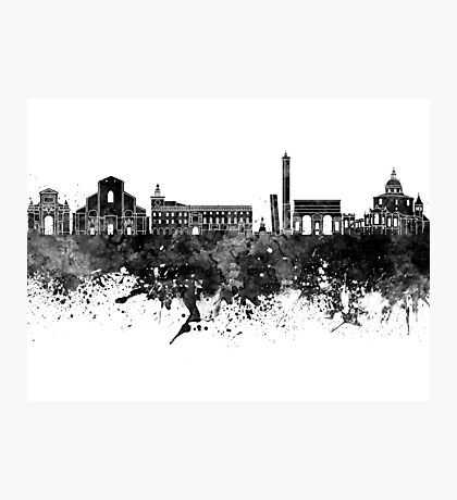 Bologna skyline in watercolor background Photographic Print
