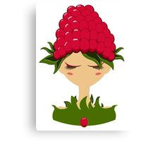 Raspberry character vector illustration Canvas Print