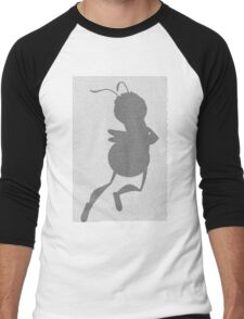 Bee movie script barry benson flying silhouette Men's Baseball ¾ T-Shirt