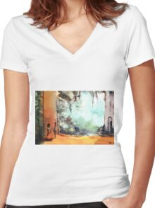 Meeting on a date Women's Fitted V-Neck T-Shirt