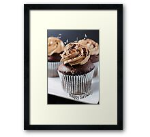 Chocolate Cup Cake (#GC302) Framed Print