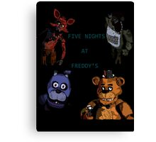 Five Nights at Freddy's fan made picture Canvas Print