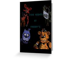 Five Nights at Freddy's fan made picture Greeting Card