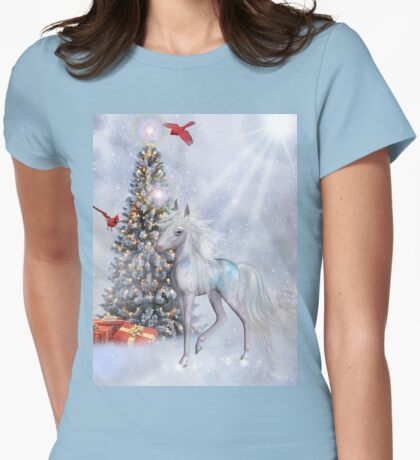 Christmas in The Clouds Womens Fitted T-Shirt