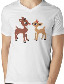 Classic Rudolph and Clarice Mens V-Neck T-Shirt