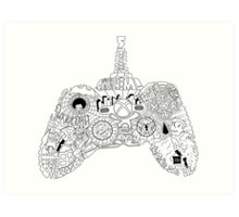 Controller Collage Art Print