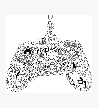 Controller Collage Photographic Print