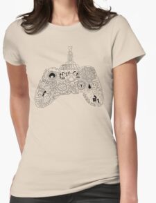 Controller Collage Womens Fitted T-Shirt