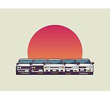 Nissan Skyline GT-R Family (Rising Sun Group) Photographic Print