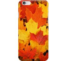 Pile of Colorful Maple Leaves iPhone Case/Skin