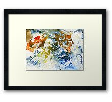 Brown and orange abstract Framed Print