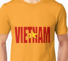 Vietnam Viet Nam Font With Vietnamese Flag Unisex T-Shirt