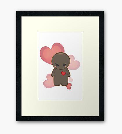 Cute character vector design Framed Print