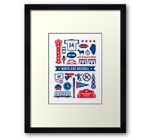 back the future cahmpions Framed Print